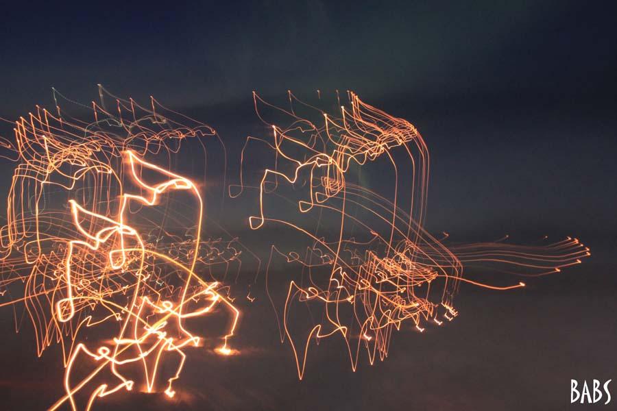 Photo effets de lumières sur fond noir