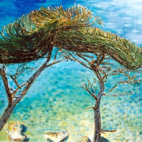 Peinture Michèle Babilotte pins calanques