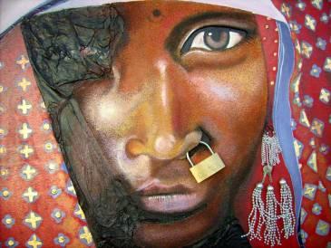 Peinture Michèle Babilotte femme africaine