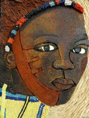 Peinture Michèle Babilotte jeune femme africaine