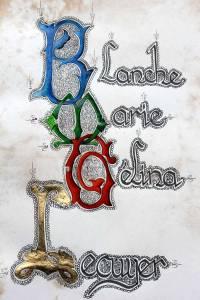 Monogramme prénoms Blanche Marie