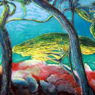 Peinture Michèle Babilotte pins technique mixtes
