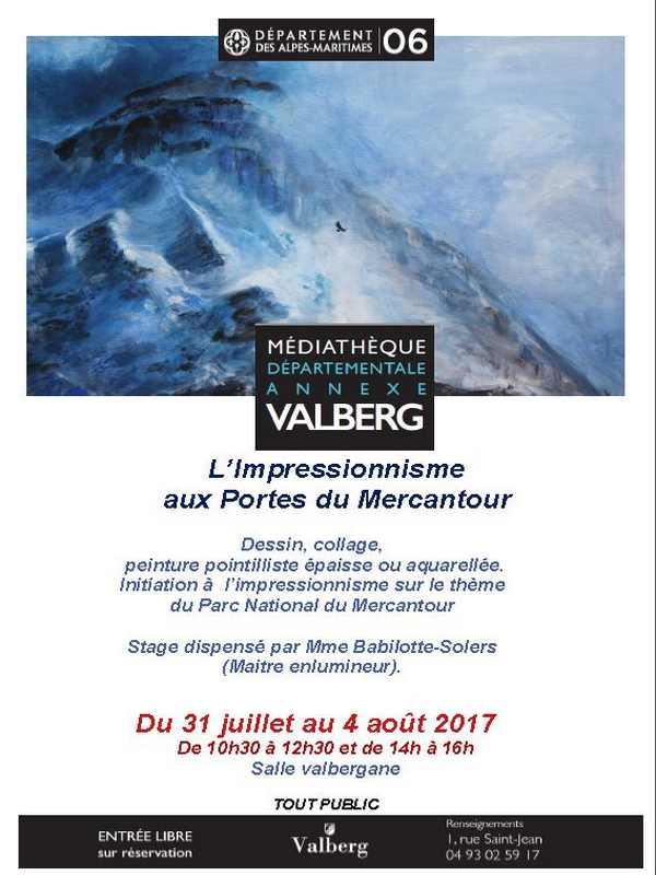 stage-peinture-impressionniste-valberg-affiche