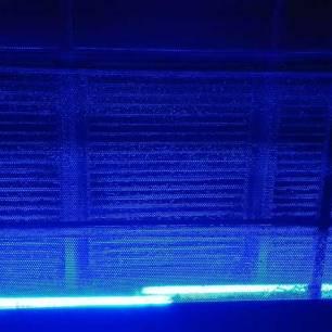 Neon bleu
