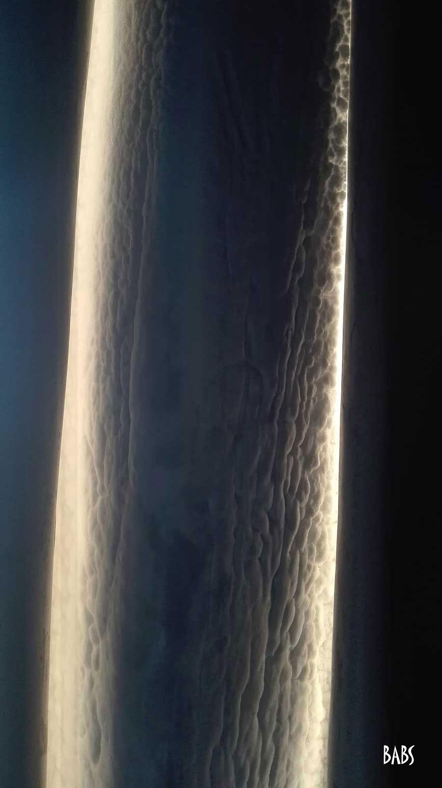 Colonne de glace lumières